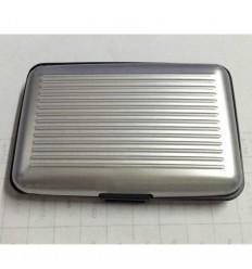 Portofel rezistent la apa, elegant pentru carduri sau documente - carcasa din aluminiu, culoare Argintiu ID566