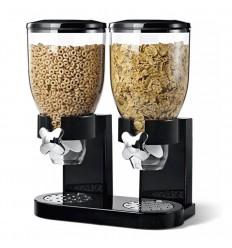 Dispenser cereale dublu 3,5 litri x 2, Negru ID611