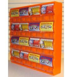 Suport pentru carti de vizita portocaliu, ID766